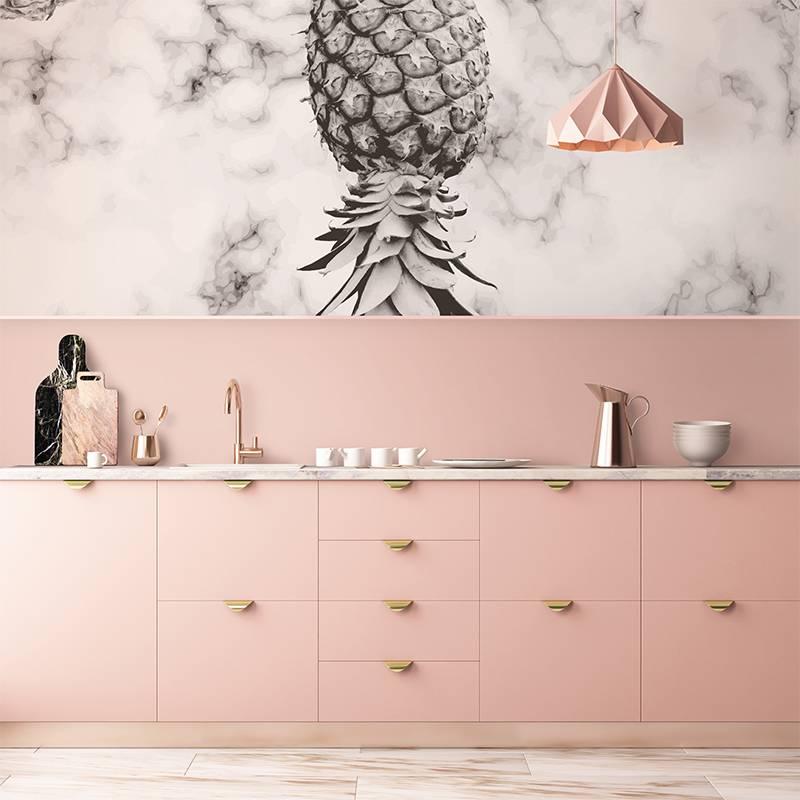 Décoration murale marbre et ananas