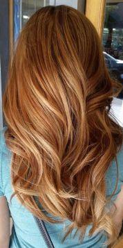 Ombre hair caramel roux, coloration automne 2018