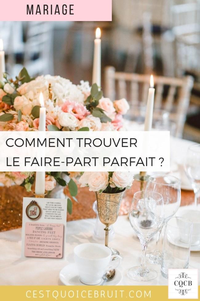 Comment trouver le faire part de mariage parfait ? Conseils et astuces #mariage #wedding #fairepart #invitation #deco #theme