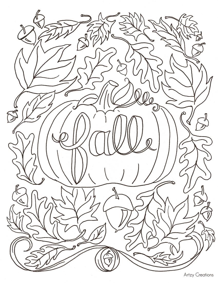 Coloriage d'automne à imprimer gratuitement #coloriage #fall