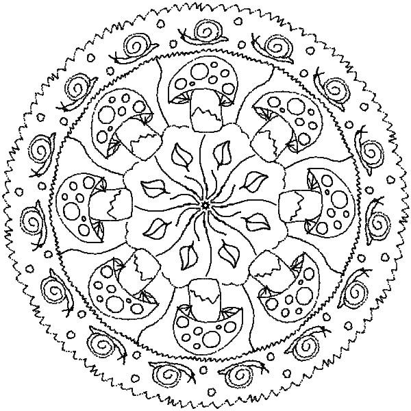 Coloriage automne mandala à imprimer