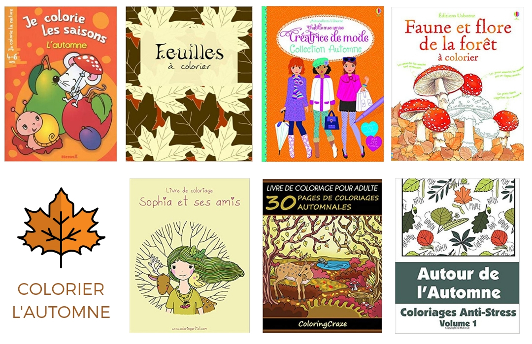 Sélection de livres de coloriages d'automne pour enfants et adultes