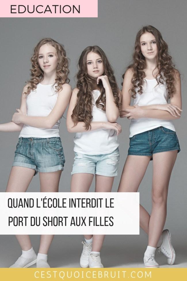 Shorts interdits à l'école pour les filles, mesure sexiste et discriminatoire #éducation #école #sexisme #discrimination #school #adolescence