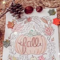 Et colorier l'automne