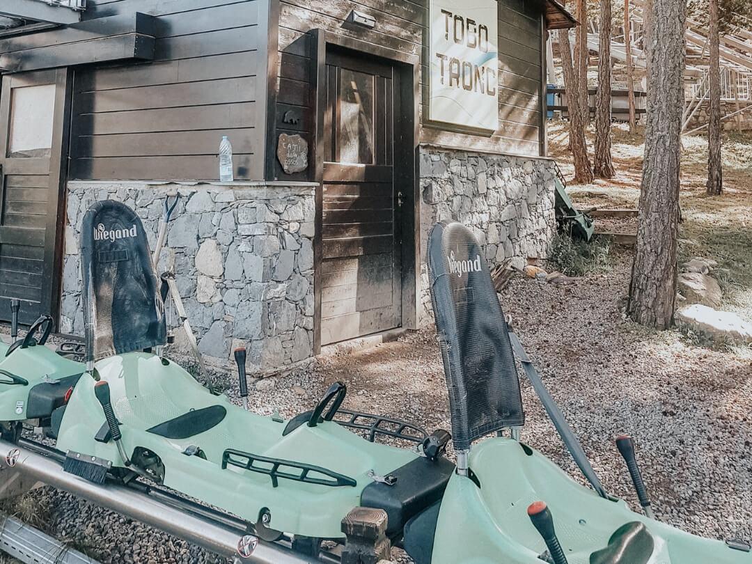 Naturlandia, Tobotrond dans la forêt à Andorre, blogtrip famille 2018