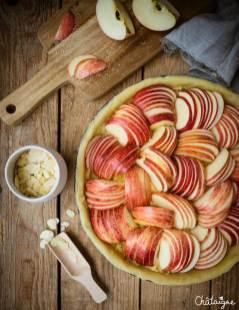 La tarte aux pommes et à la crème d'amande pour l'automne #tarte #pommes #food #recipe #recette