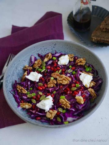 Recette d'automne : salade de choux rouge aux noix #salade #recette #recipe #choux