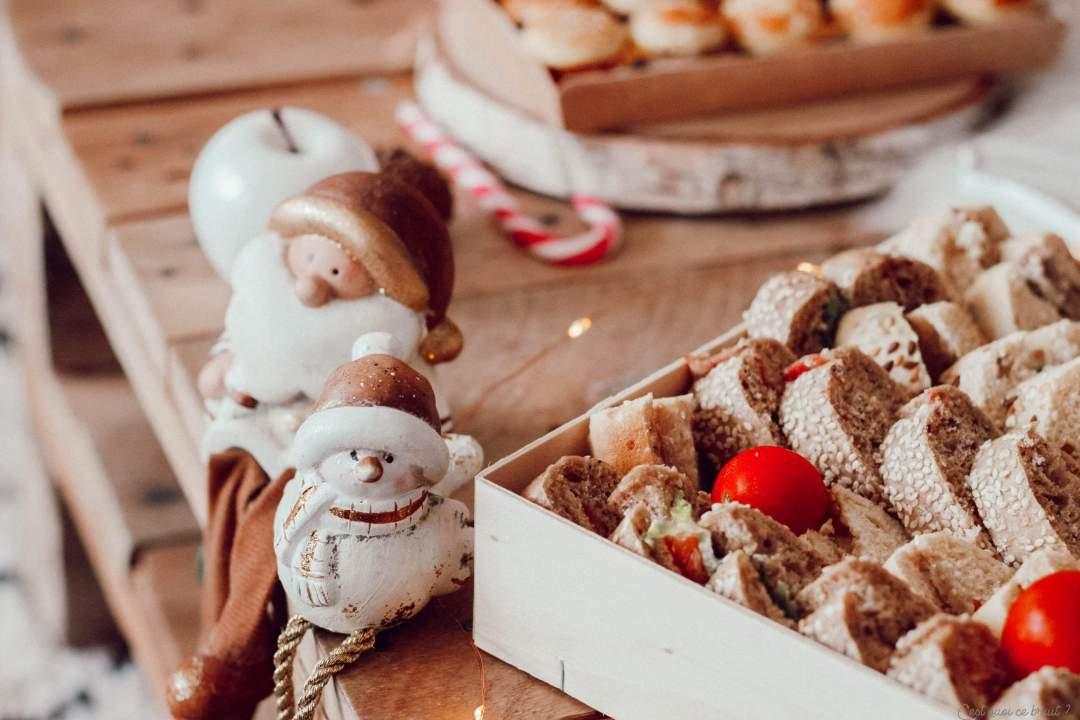 Apéritif dînatoire de fêtes, Noël Jour de l'An avec le traiteur Flunch, les pagnotes garnies
