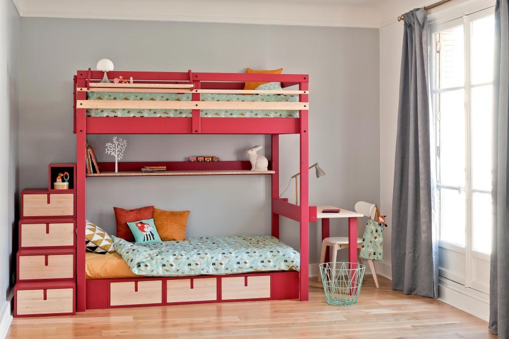 Aménager la chambre des enfants avec des lits superposés