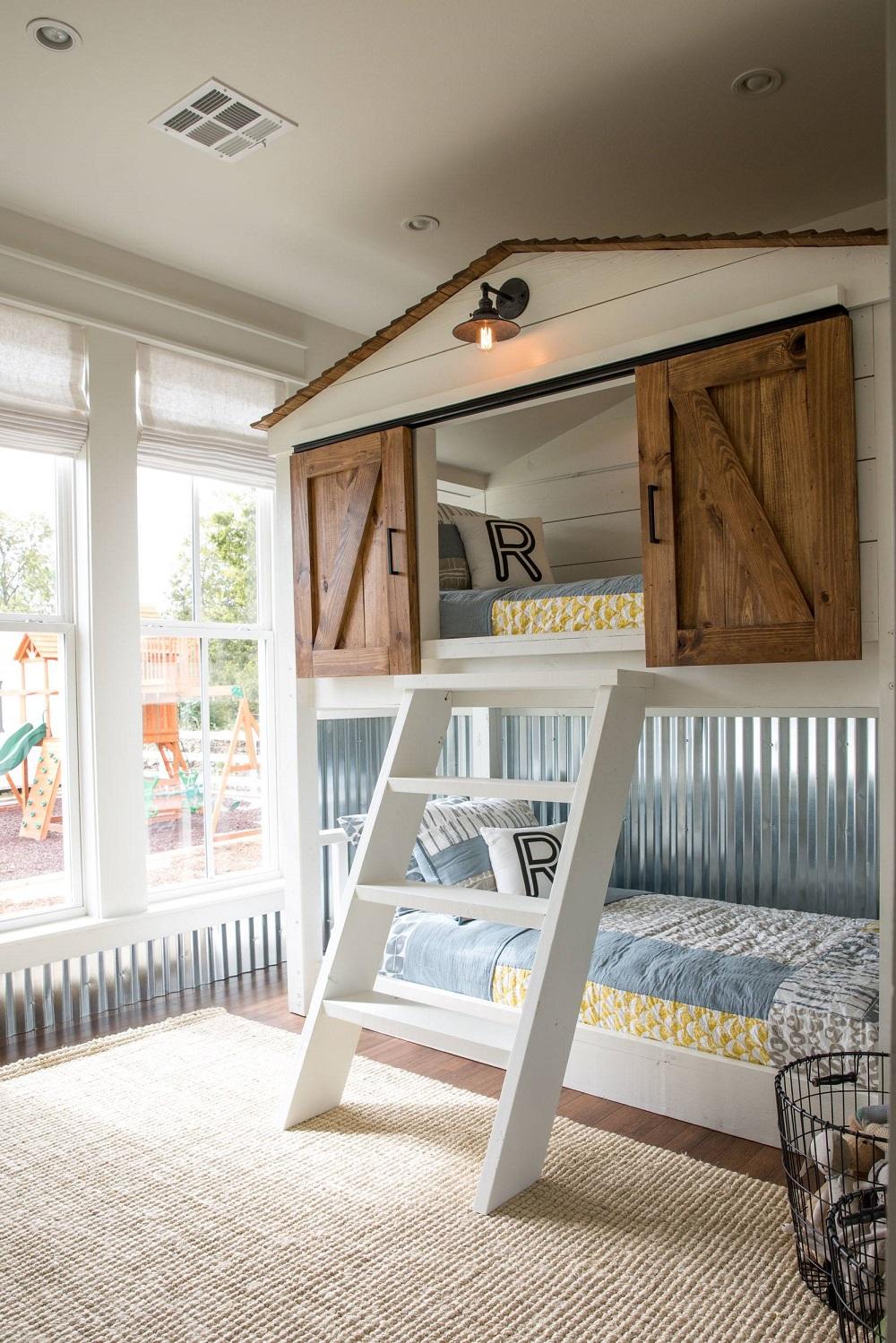 lits superposés que les enfants pour adorer avoir dans leur chambre
