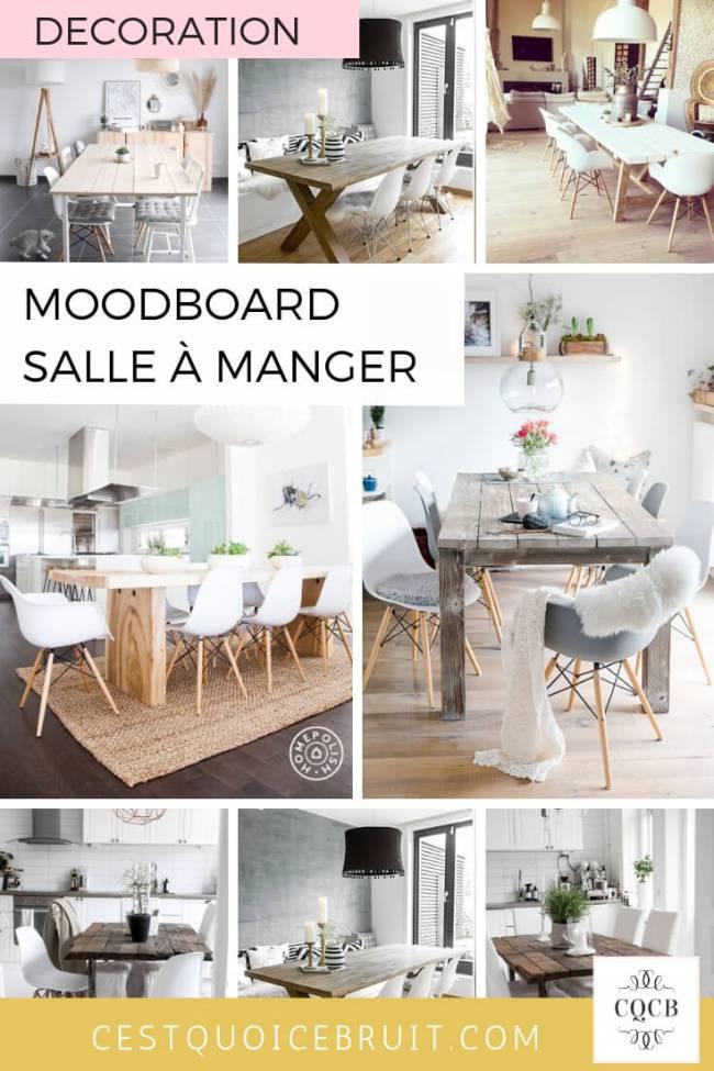Moodboard décoration de salle à manger table en bois #salleàmanger #table #décoration #interior #decoaddict