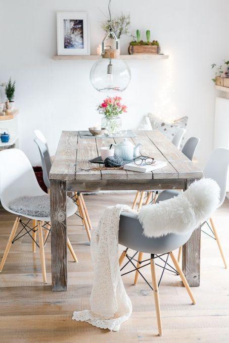 Inspiration déco : Table de salle à manger en bois #déco #décoaddict