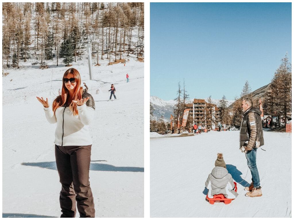 week-end en famille à la montagne aux Orres