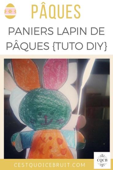 DIY Panier lapin de Pâques à faire avec les enfants #Pâques #DIY #coloriage #lapin