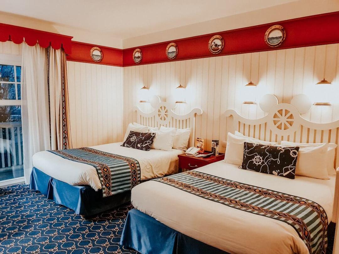 Notre chambre à l'hôtel Newport Bay Club Disneyland Paris