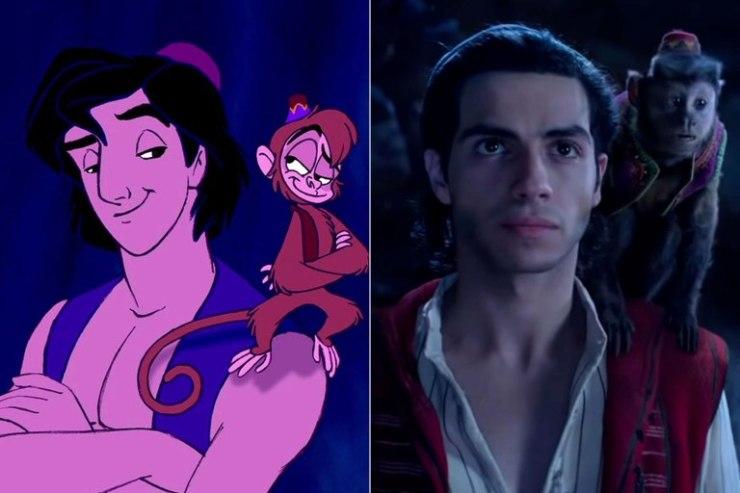 Aladdin, les personnages du film VS les personnages du dessin animé