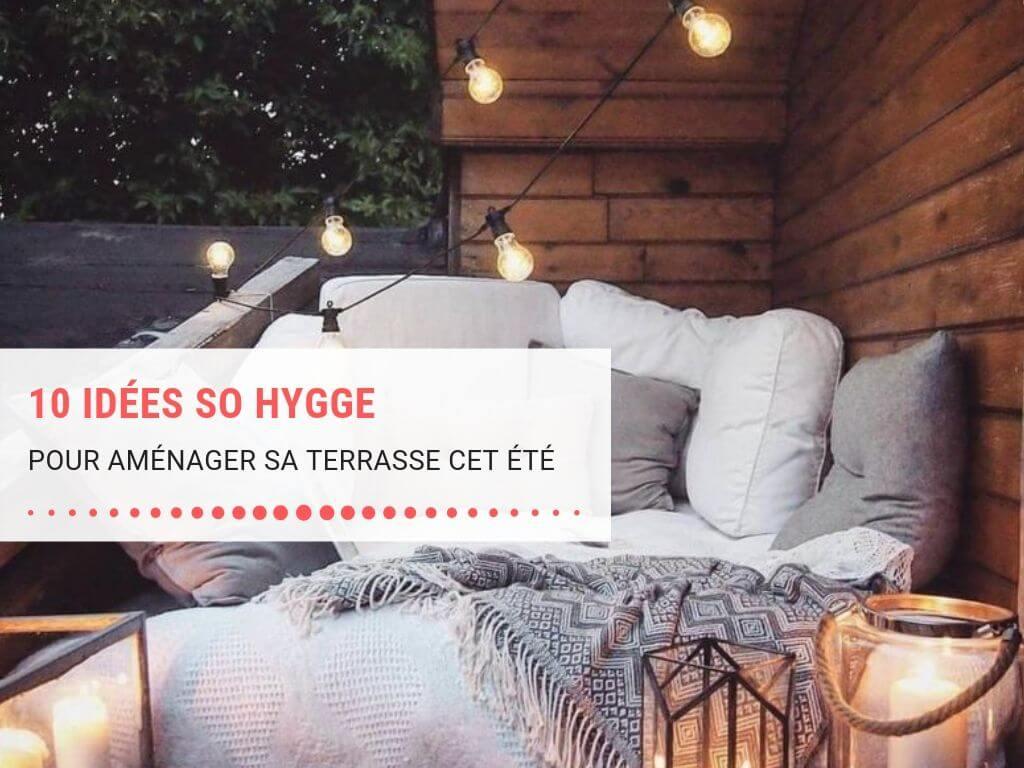 """Aménager Son Balcon Avec Des Palettes 10 idées pour aménager sa terrasse """"so hygge"""" pour l'été"""