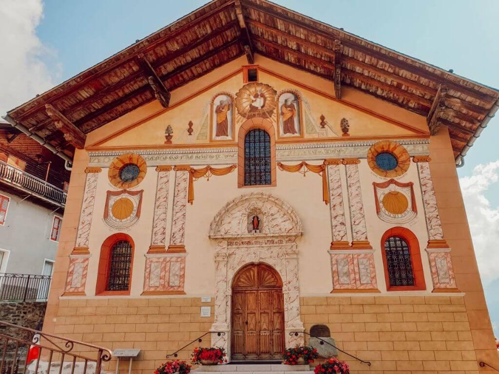 Eglise du village savoyard d'Hauteluce