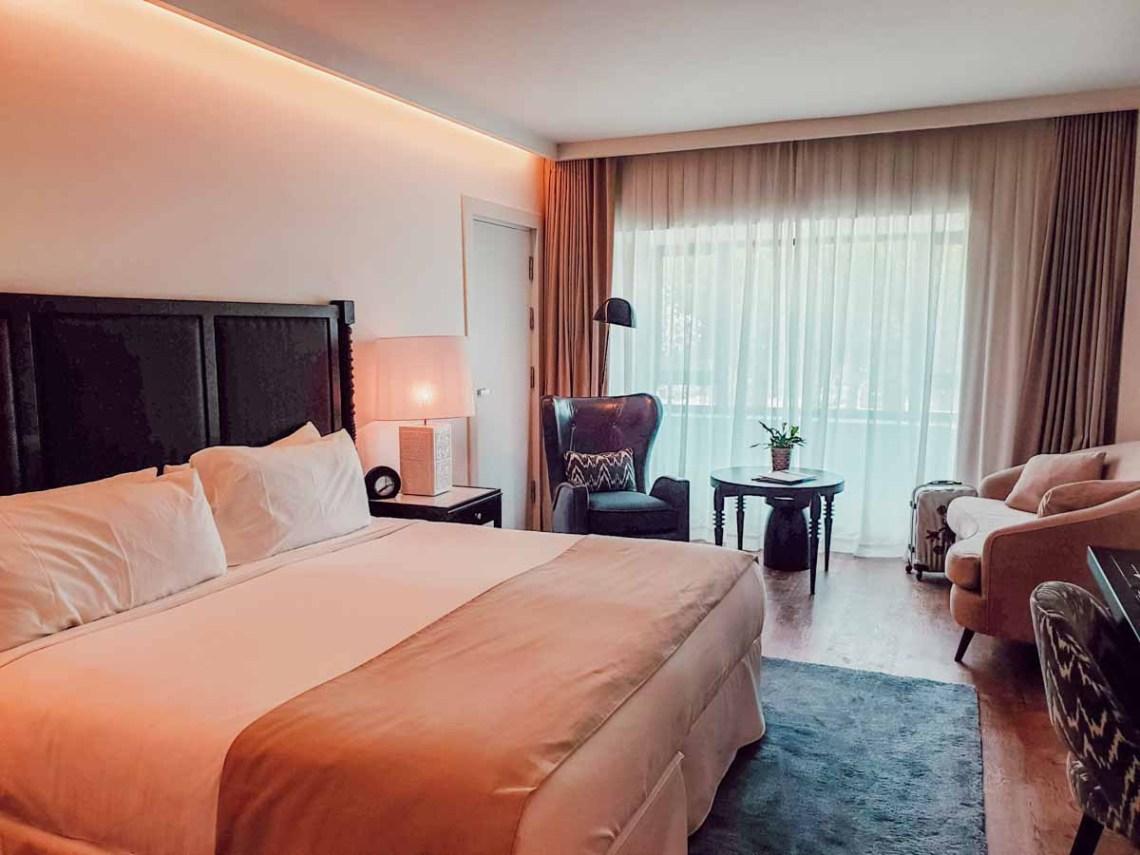 Notre chambre à l'Hôtel Camiral, blogtrip en famille à Gérone, PGA Catalunya Resort