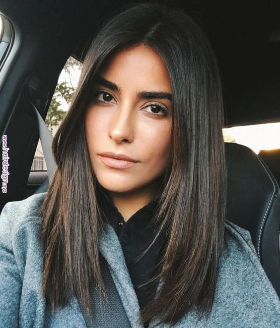 Carré long brun pour cet automne #carré #cheveux #coiffure #bob #carrélong #longbob #brune