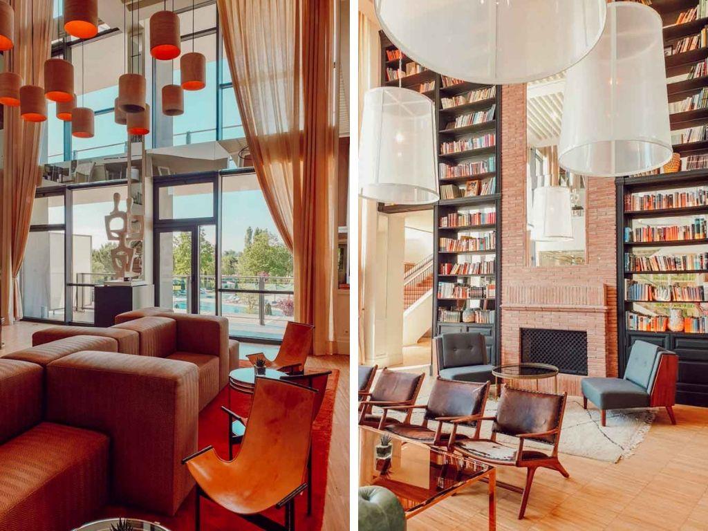 Espaces lounge de l'hôtel Camiral pour se relaxer