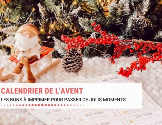 Bons à imprimer pour le calendrier de l'Avent, les jolis moments en famille en attendant Noël