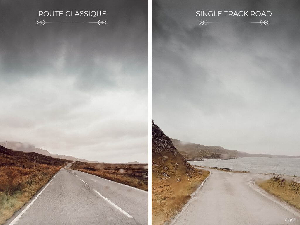 Routes en Ecosse : conduire sur les single track roads
