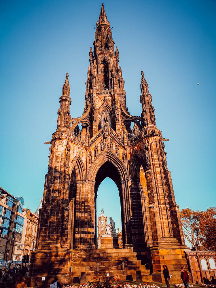 Scott Monument, séjour en famille à Édimbourg