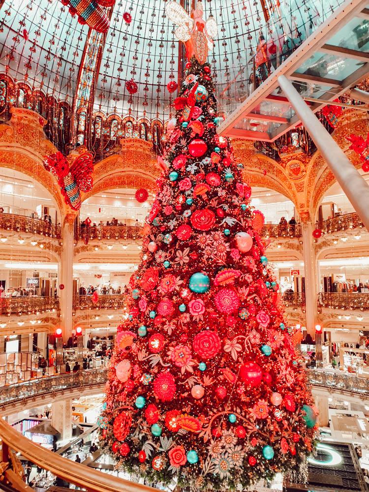 Sapin de Noël des Galeries Lafayette, notre week-enf en famille à Paris pour mes 40 ans