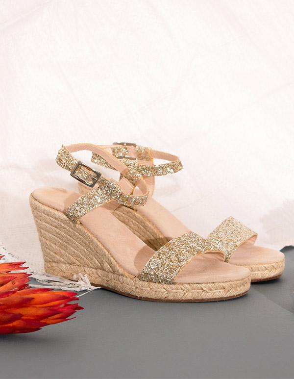 sandales Escadrille pailletées, idées cadeau pour la fête des mères