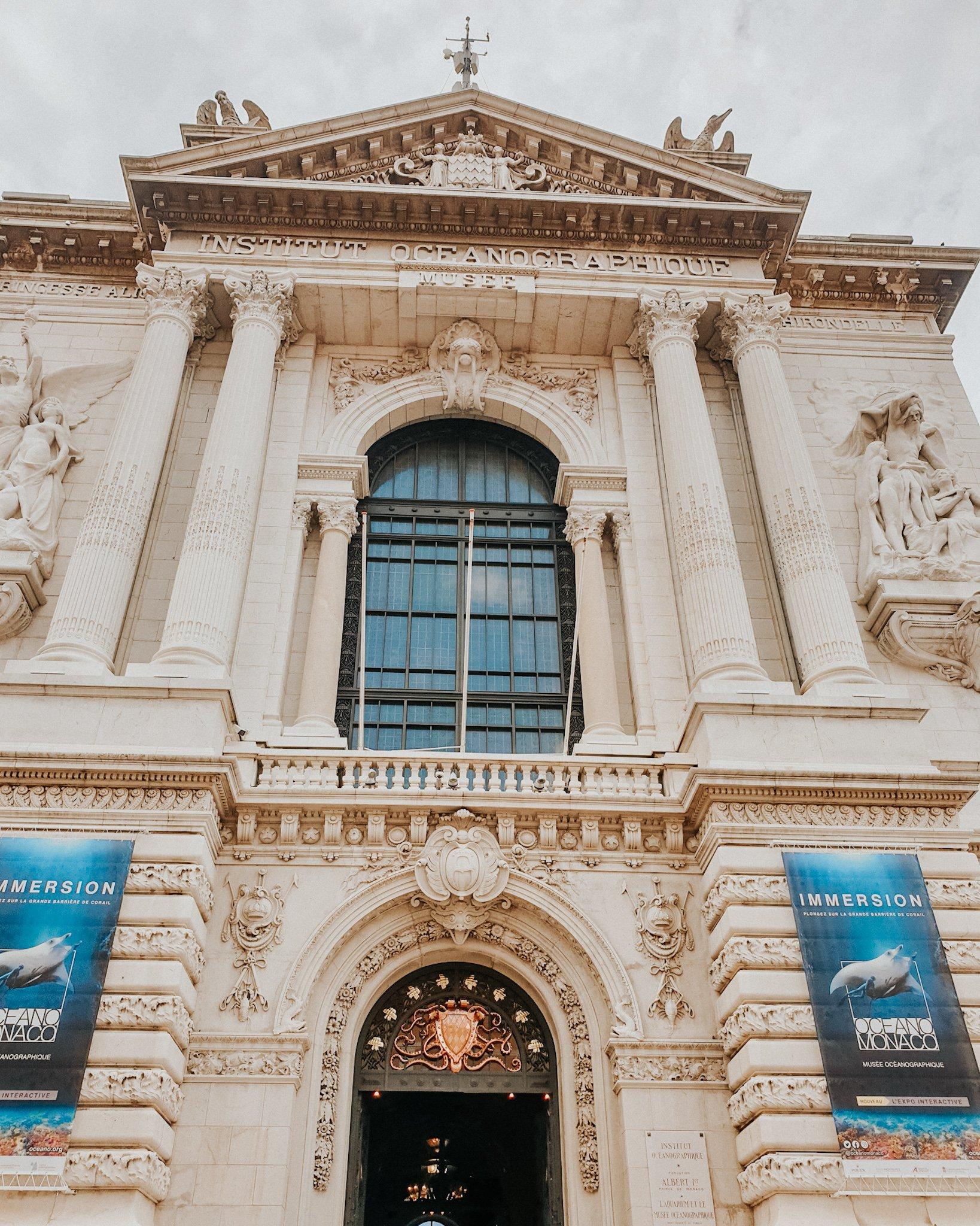architecture du Musée Océanographique de Monaco
