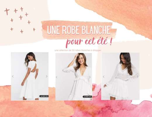 Robe blanche pour cet été
