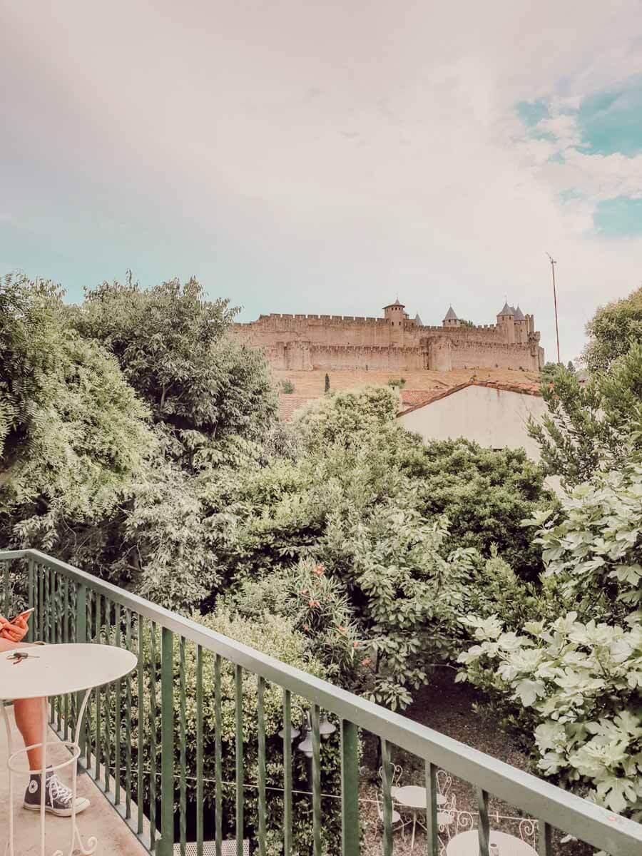 Dormir avec la vue sur la cité de Carcassonne