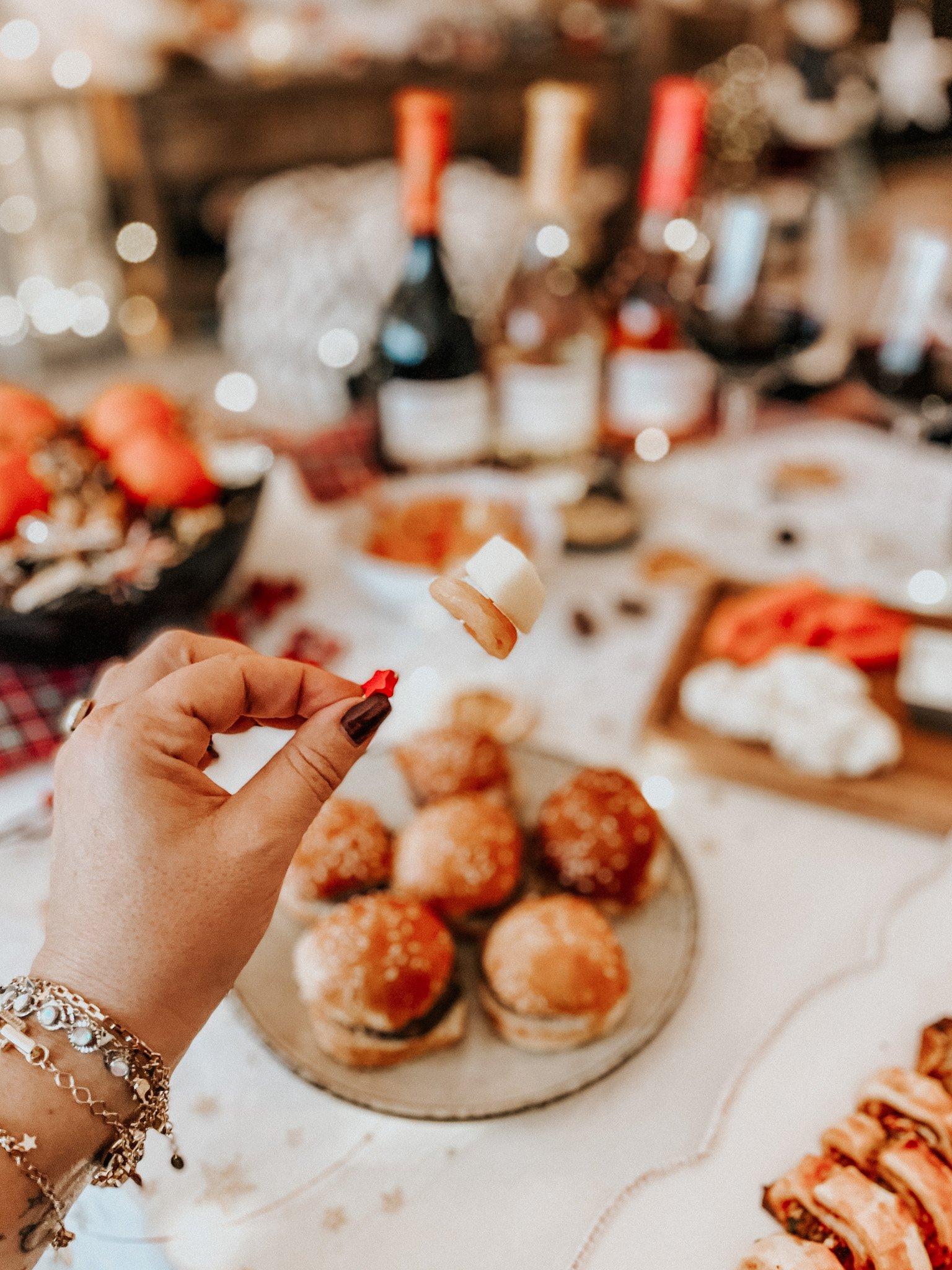 brochettes abricot comté  apéritif de fêtes