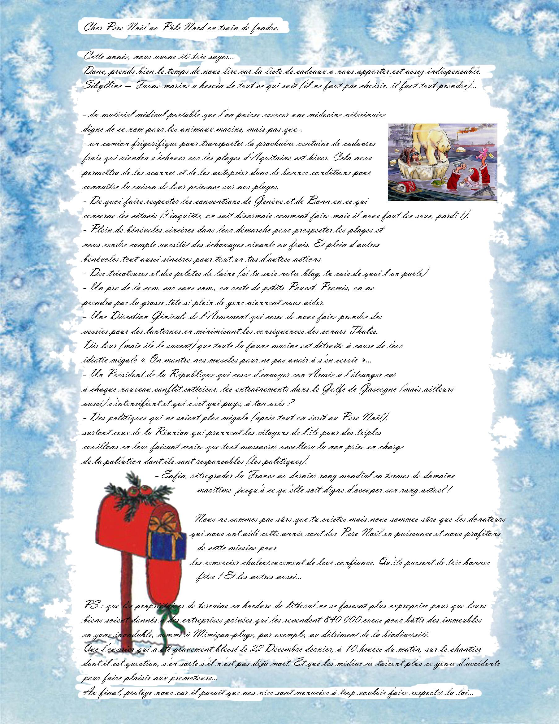 Lettre Au Pere Noel Du Pole Nord Qui Fond Pole Nord