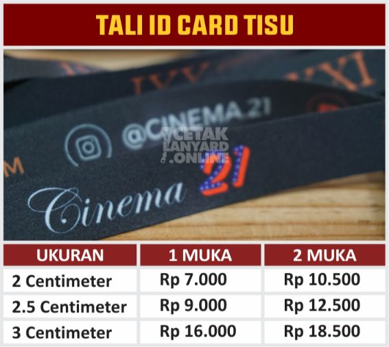 TALI ID CARD TANPA FINISHING TISU