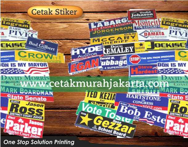 Percetakan Stiker   Cetak Stiker   Stiker Promosi