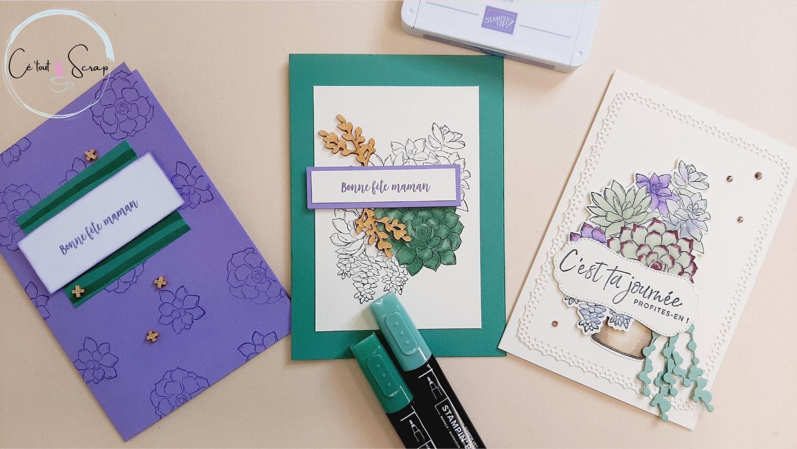 Trois cartes fêtes des mères...