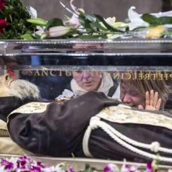 Padre Pio o su horizontal fixed