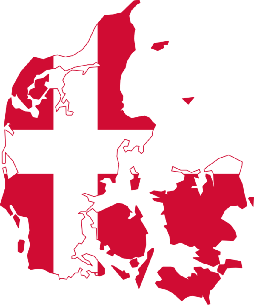 denmark Denmark Flag Map