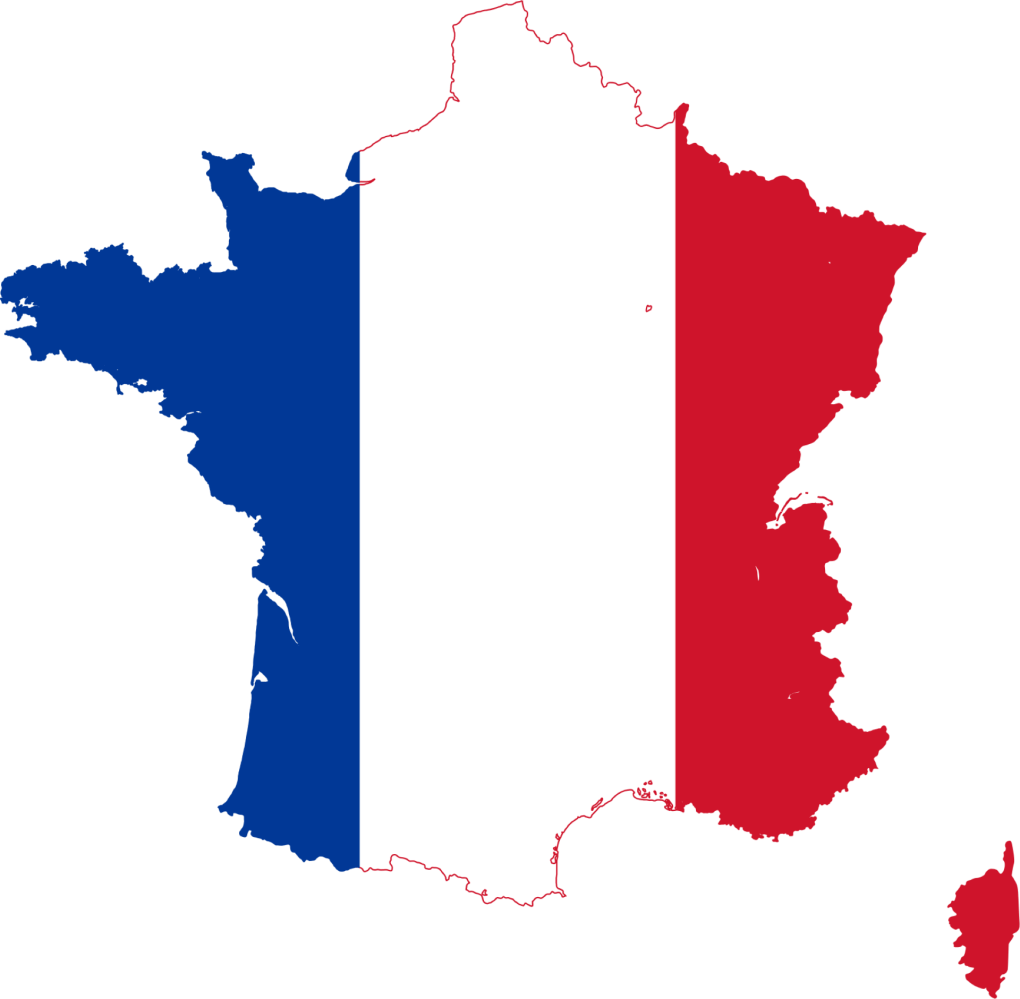 france France Flag Map