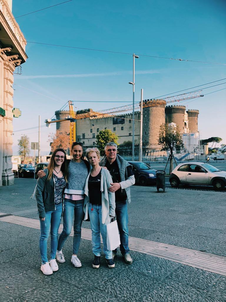 Lauren in Italy with family