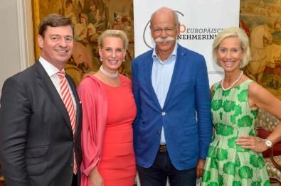 Ingo Peters Fairmont Vier Jahreszeiten, Christiane Peters, Dr. Dieter Zetsche, Kristina Tröger hochkant