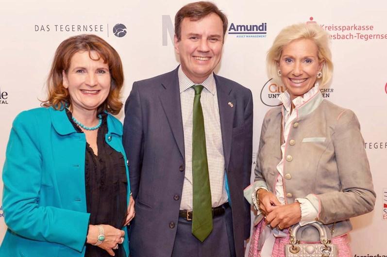 Christiane Götz-Weimer (Weimer Media Group), Greg Hands (Britischer Handelsminister), Kristina Tröger (Präsidentin Club europäischer Unternehmerinnen)