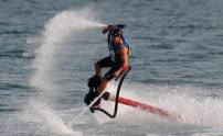 Frederico Bufacchi of Italy takes part during the Fly Board world championship qualifier in Doha