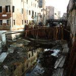 Kanalarbeiten in Venedig