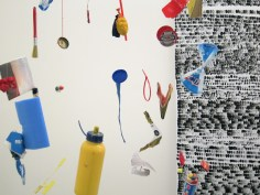 Mobile mit Rot, Gelb und Blau (Detail)