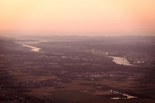 "Blick auf Bonn nach dem Start vom Flughafen Köln/Bonn ""Konrad Adenauer"""