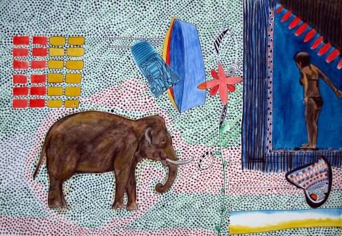 """Kreuzchenbild """"Elefant"""""""