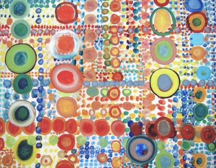 Farbsystem I, mit Öl auf Leinwand, 90 x 70 cm